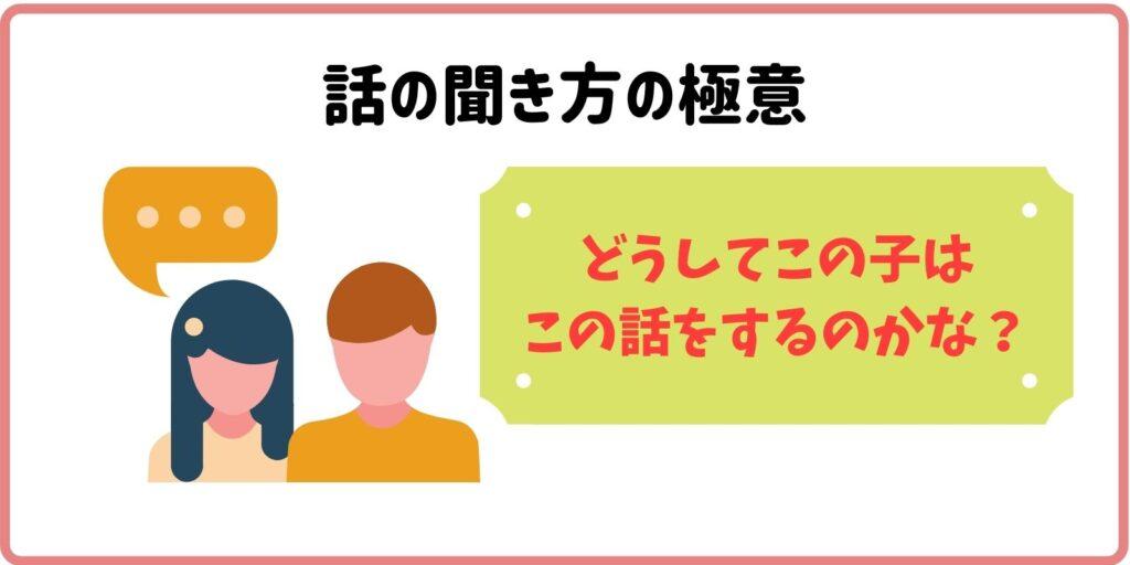 話を聞くときは、相手に興味をもつことが重要です。